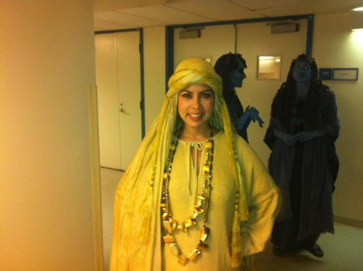 Me as Amneris attendant for Aida