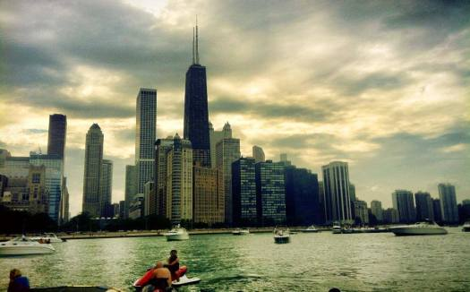 Chicago Skyline from a boat
