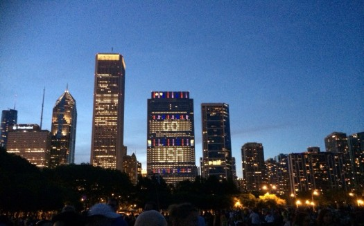 Chicago is cheering for the US Soccer Team