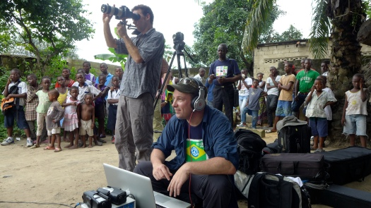 Mark Johnson, the founder of Play for Change, in Congo